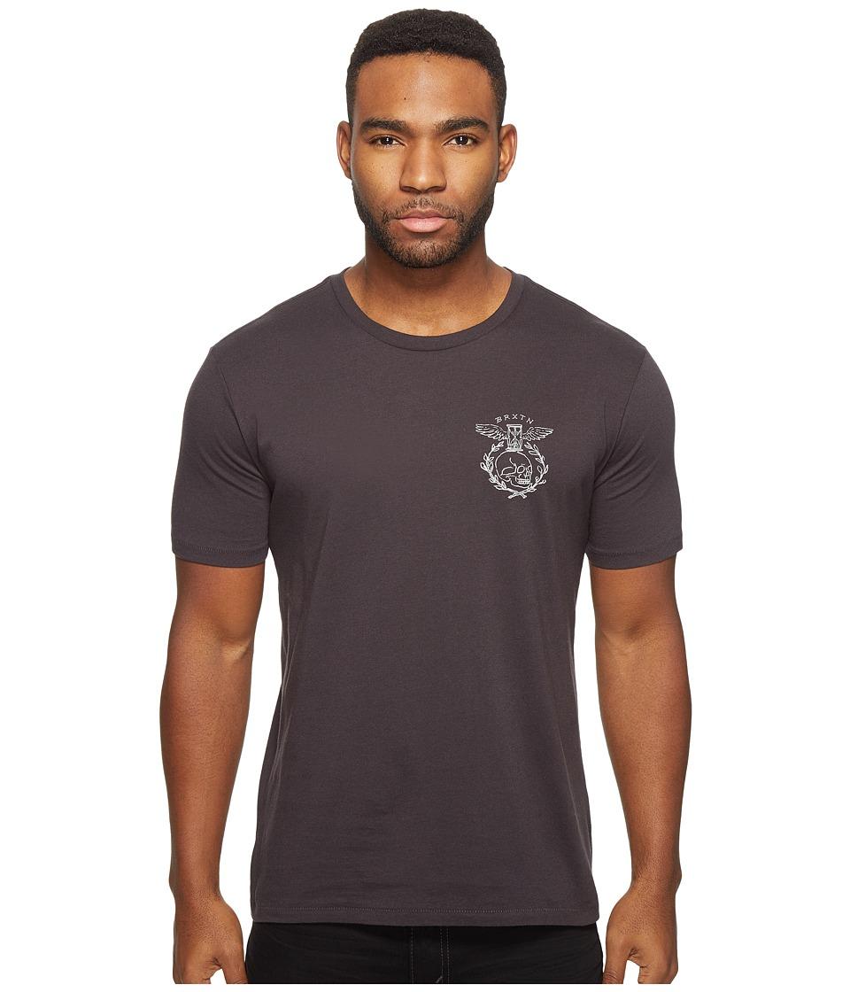 Brixton Tickin Short Sleeve Premium Tee (Washed Black) Men
