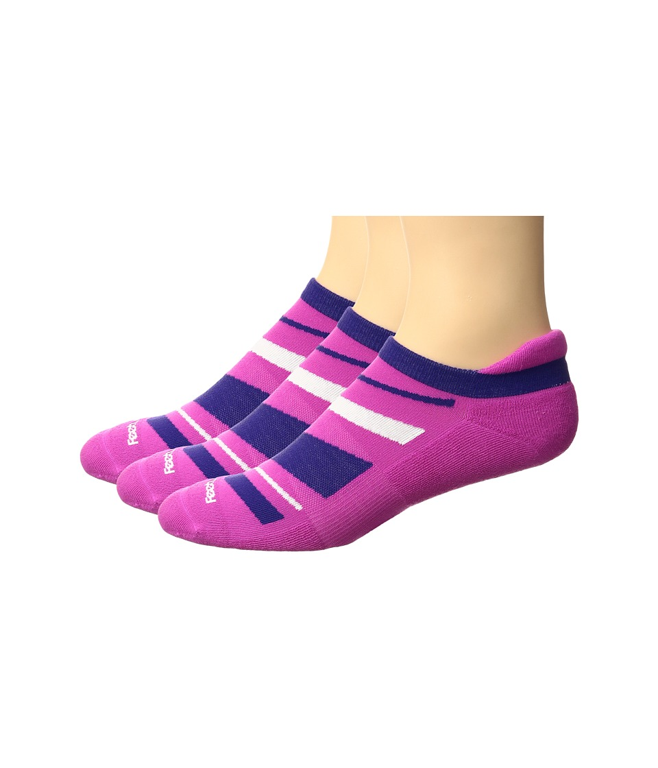 Feetures - High Performance Cushion No Show Tab 3-Pair Pack (Wisteria Pattern) No Show Socks Shoes