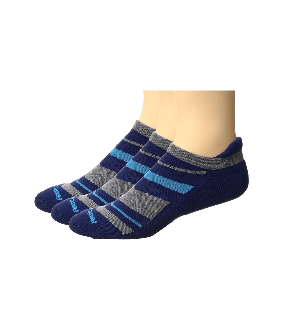 Feetures - High Performance Cushion No Show Tab 3-Pair Pack (Navy Pattern) No Show Socks Shoes