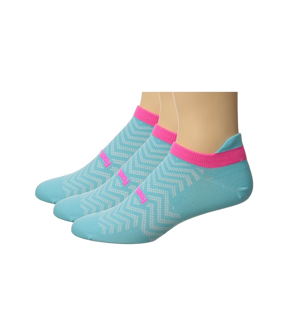 Feetures - High Performance Ultra Light No Show Tab 3-Pair Pack (Sky Blue) No Show Socks Shoes