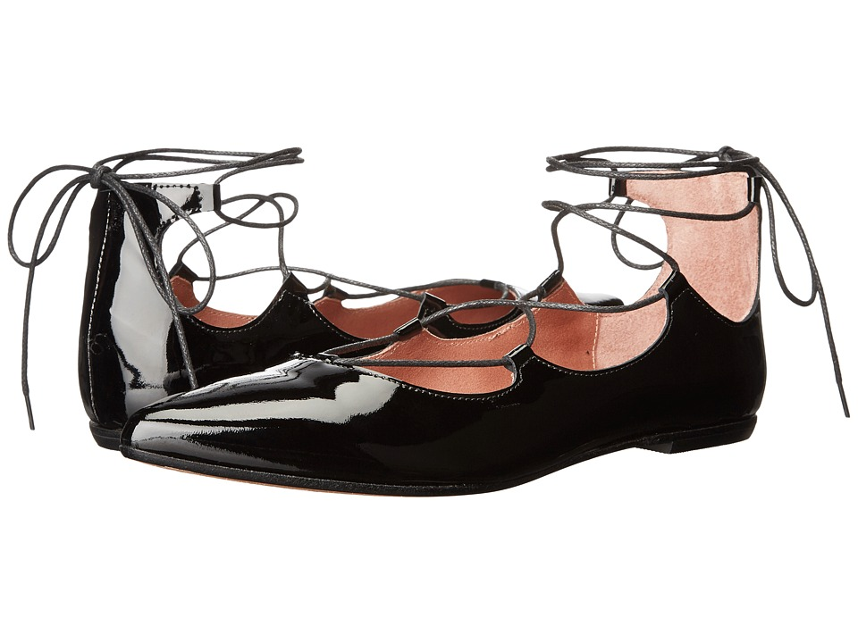 Summit by White Mountain - Karena (Black Patent Leather) Women's Flat Shoes