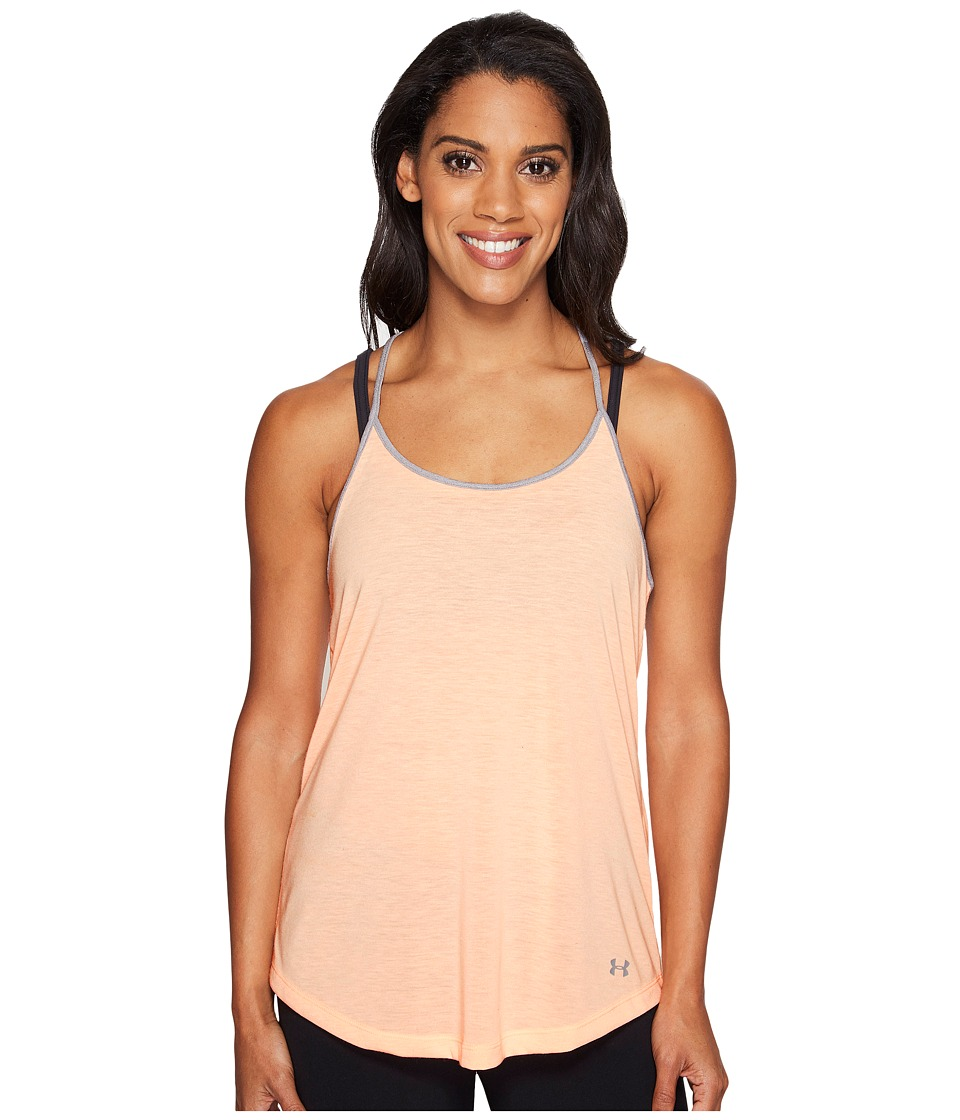 Under Armour - Threadborne Train Strap Tank Top (Playful Peach) Women's Sleeveless