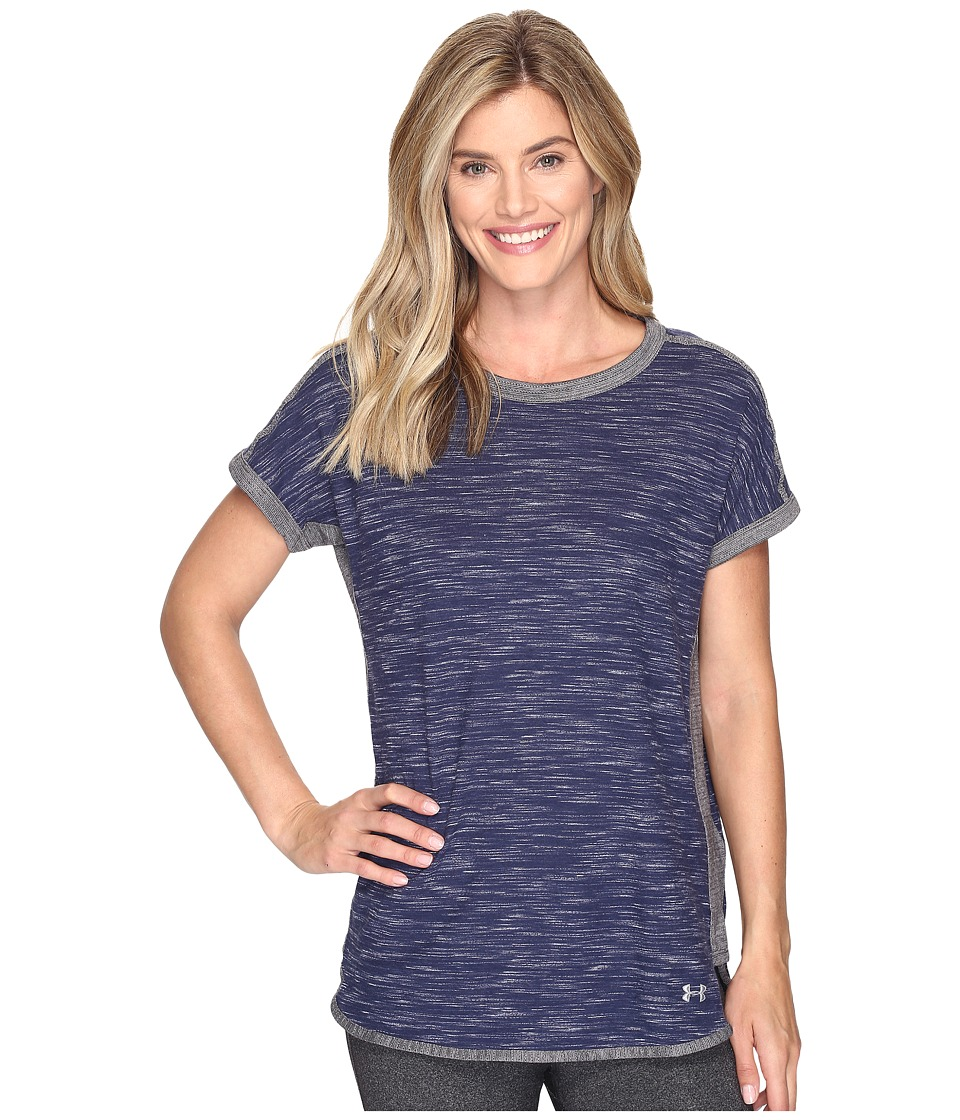 Under Armour Fashlete Tee (Midnight Navy/Carbon Heather) Women
