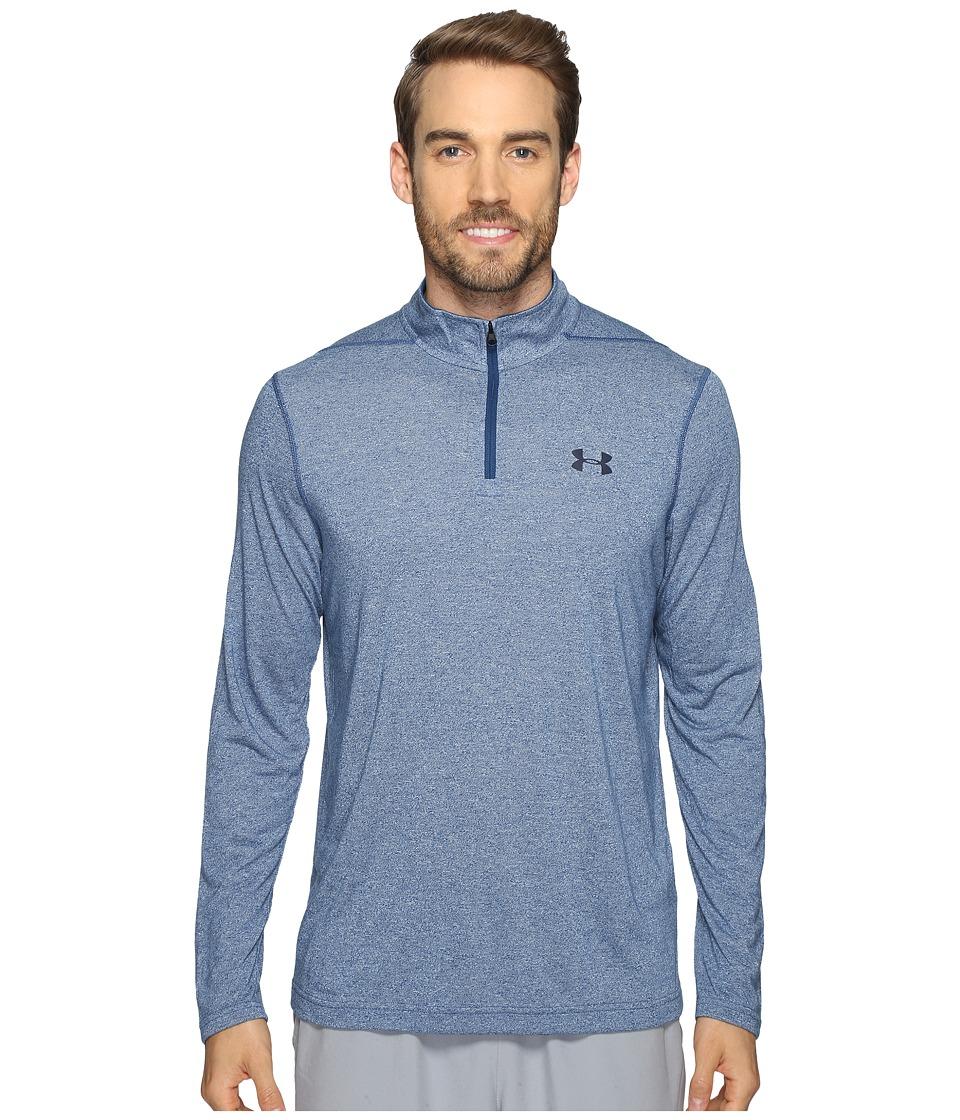 Under Armour - UA Threadborne 1/4 Zip (Blackout Navy) Men's Clothing
