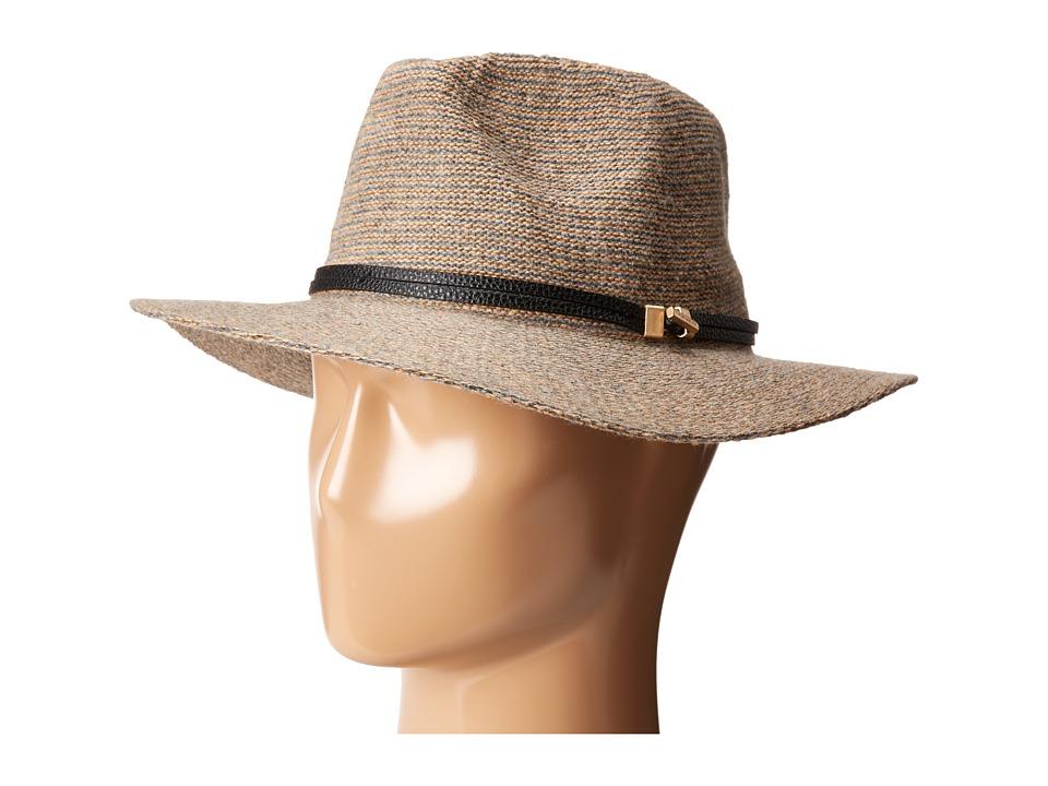 Vince Camuto - Heathered Panama with Vince Camuto Logo Band (Tan) Caps