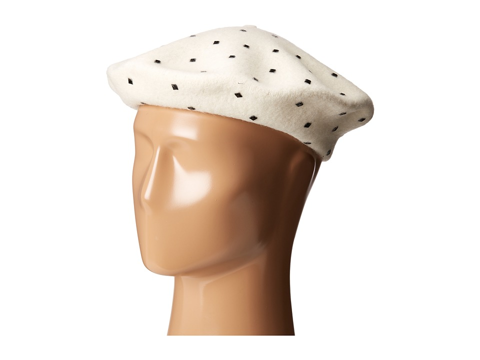 Vince Camuto - Studded Wool Beret (Ivory) Caps
