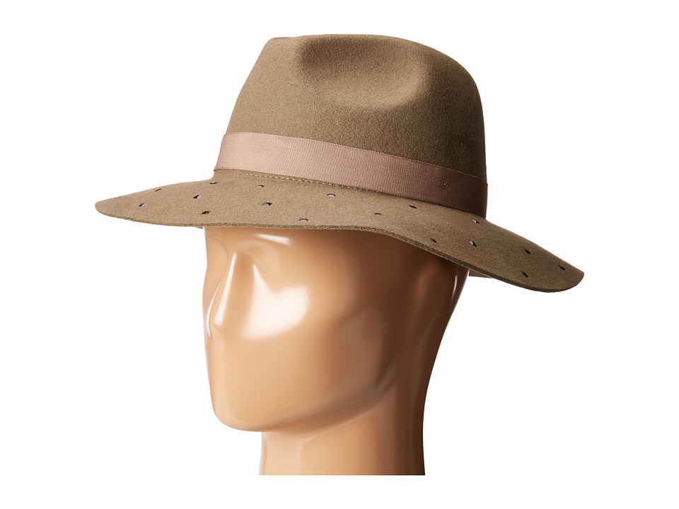 Vince Camuto - Mini Square Stud Panama (Tan) Caps