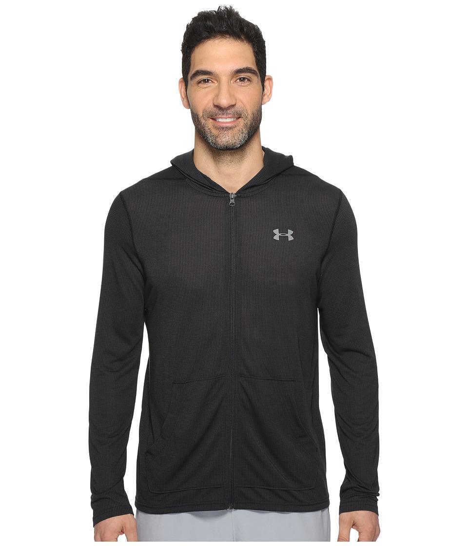 Under Armour - UA Threadborne Full Zip Hoodie (Black) Men's Sweatshirt