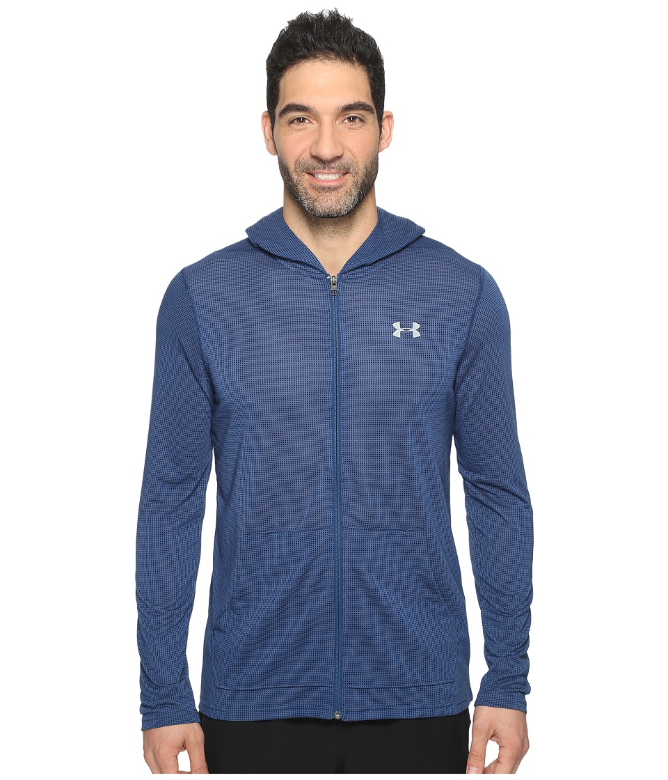 Under Armour - UA Threadborne Full Zip Hoodie (Black) Men's Sweatshirt