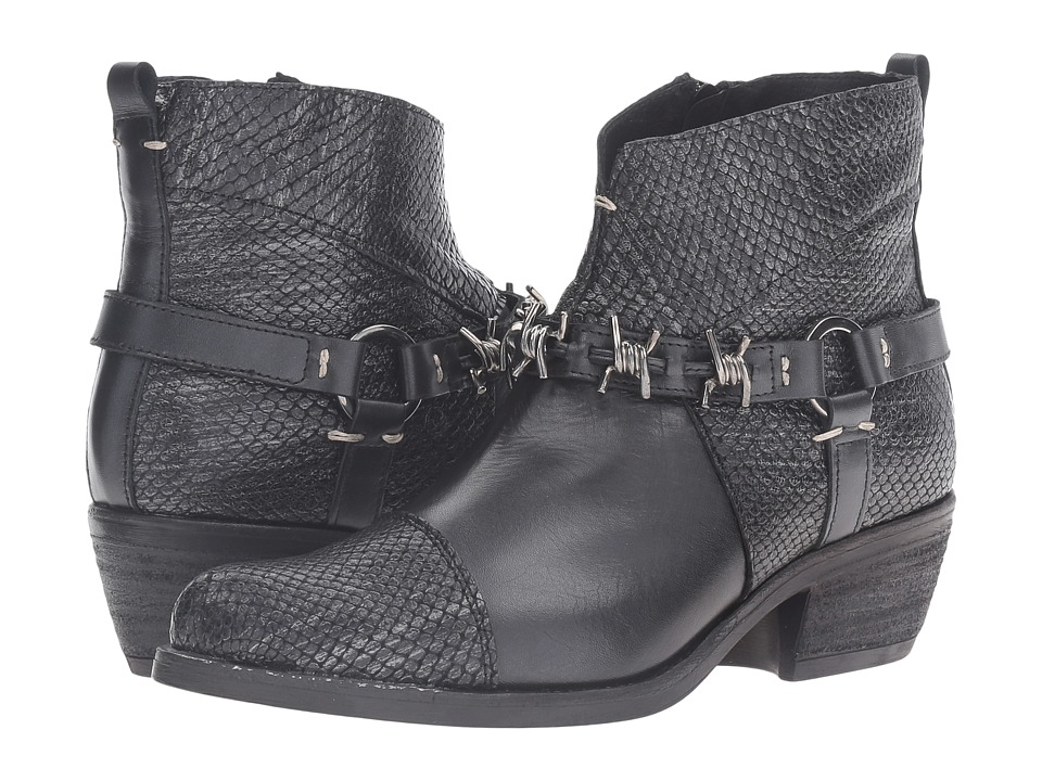 Summit by White Mountain - Amberlie (Black Exotic Leather) Women's Shoes