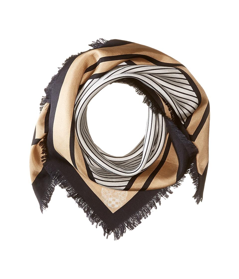 Vince Camuto - Micro-Stripe Bandana (Black) Scarves