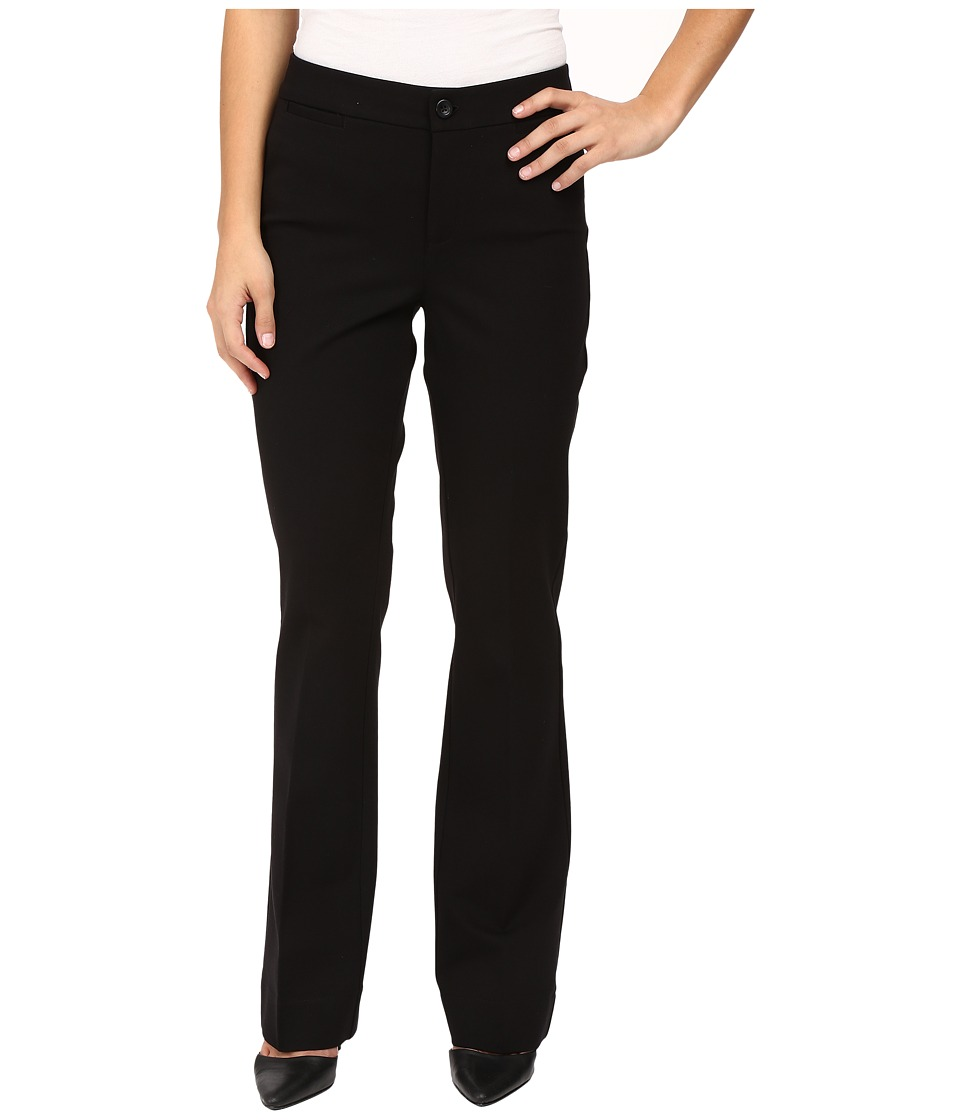 NYDJ Petite - Petite Michelle Ponte Trousers (Black) Women's Dress Pants