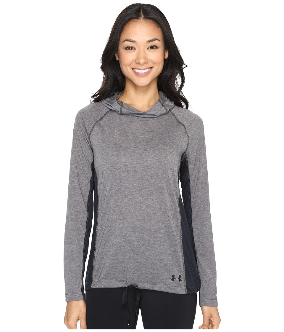 Under Armour - Threadborne Train Hoodie (Carbon Heather/Black) Women's Sweatshirt