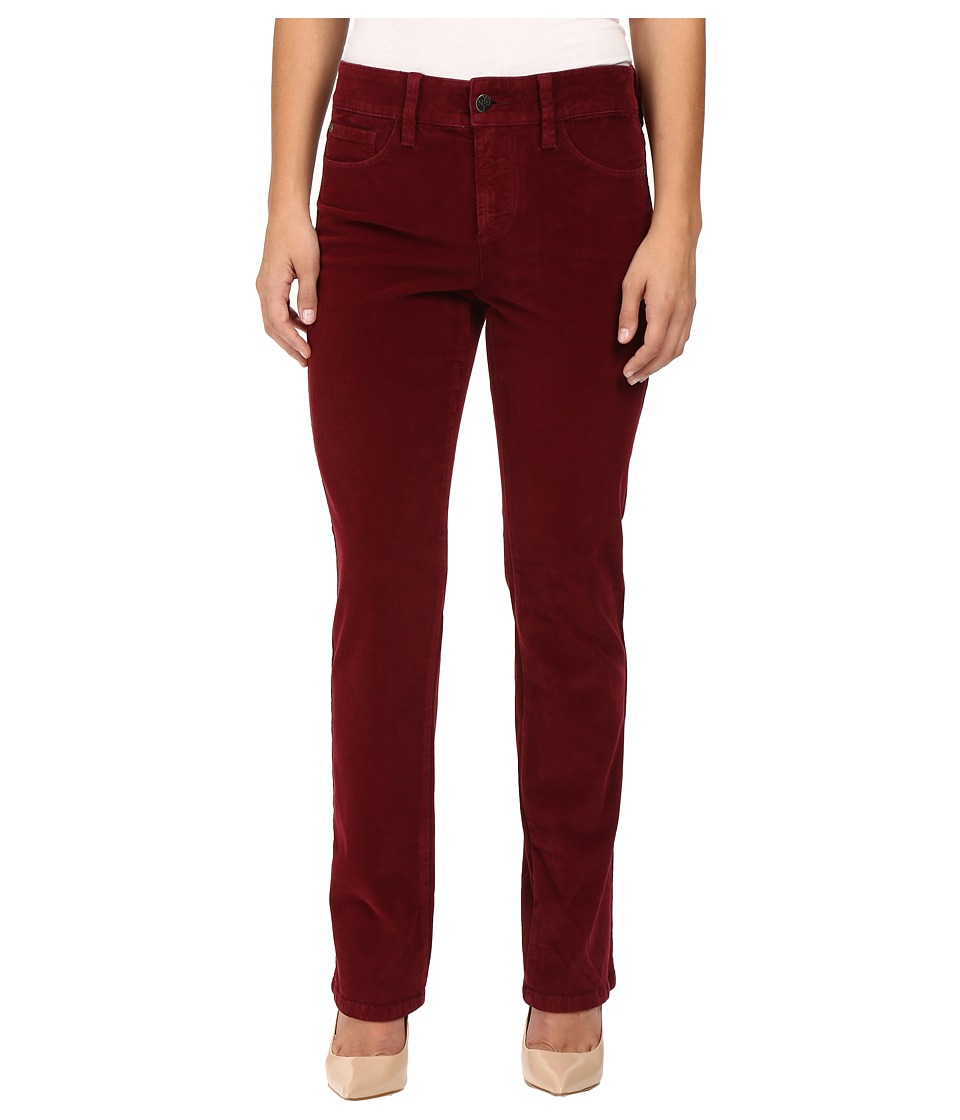 NYDJ Petite - Petite Marilyn Straight Jeans in Corduroy in Antique Ruby (Antique Ruby) Women's Jeans