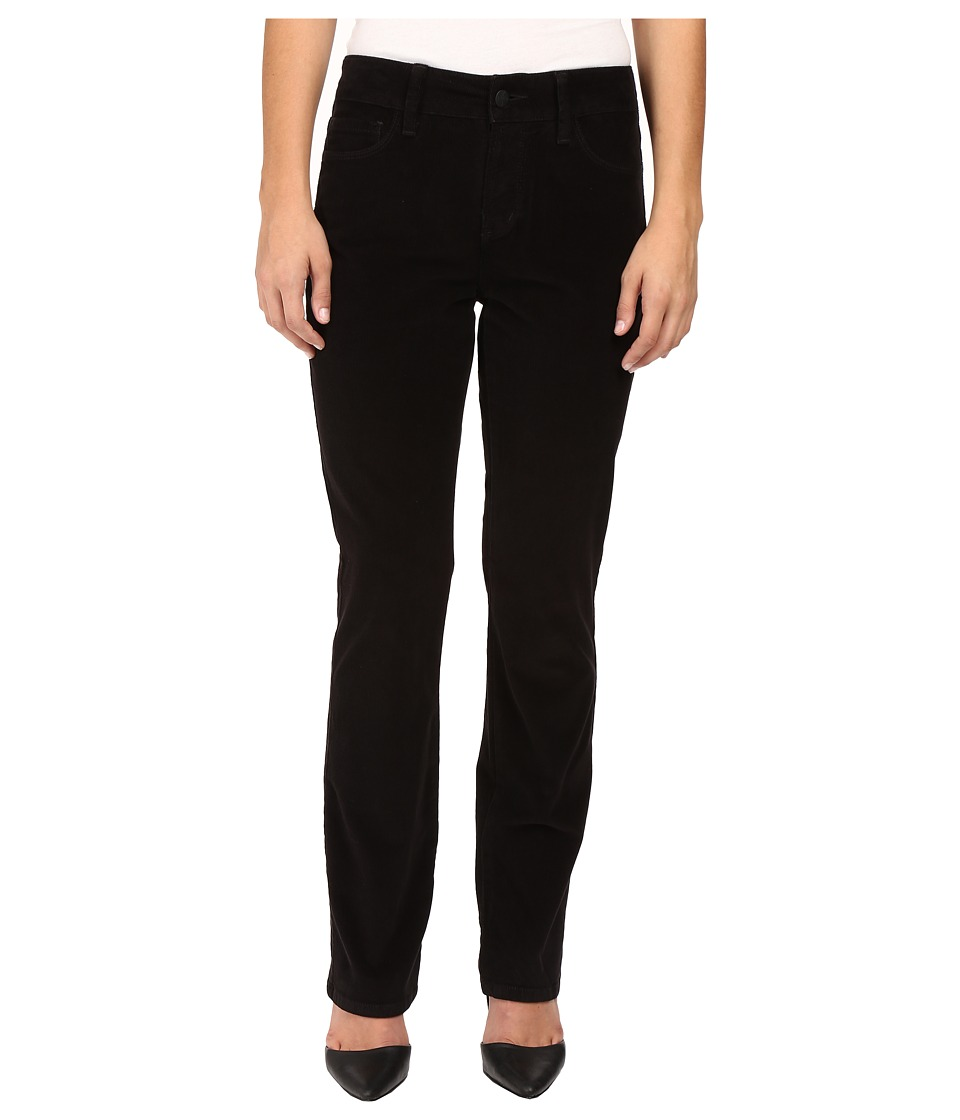 NYDJ Petite - Petite Marilyn Straight Jeans in Corduroy in Black (Black) Women's Jeans