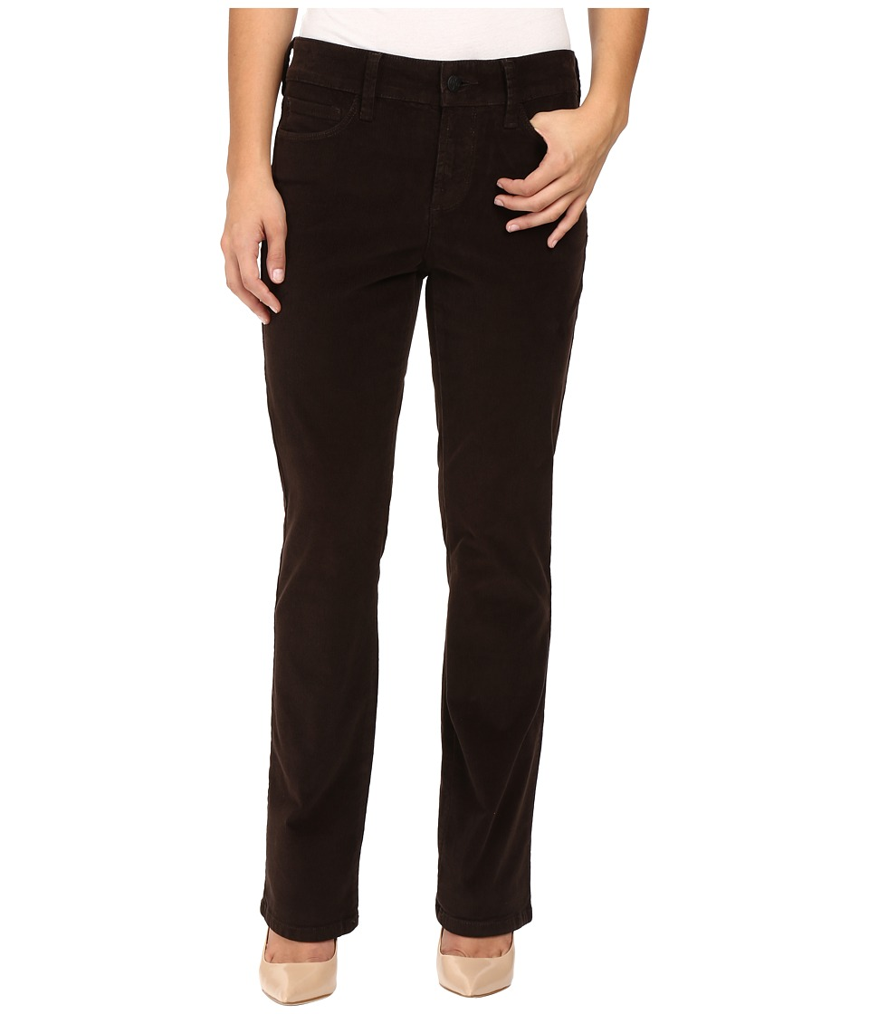 NYDJ Petite - Petite Marilyn Straight Jeans in Corduroy in Molasses (Molasses) Women's Jeans