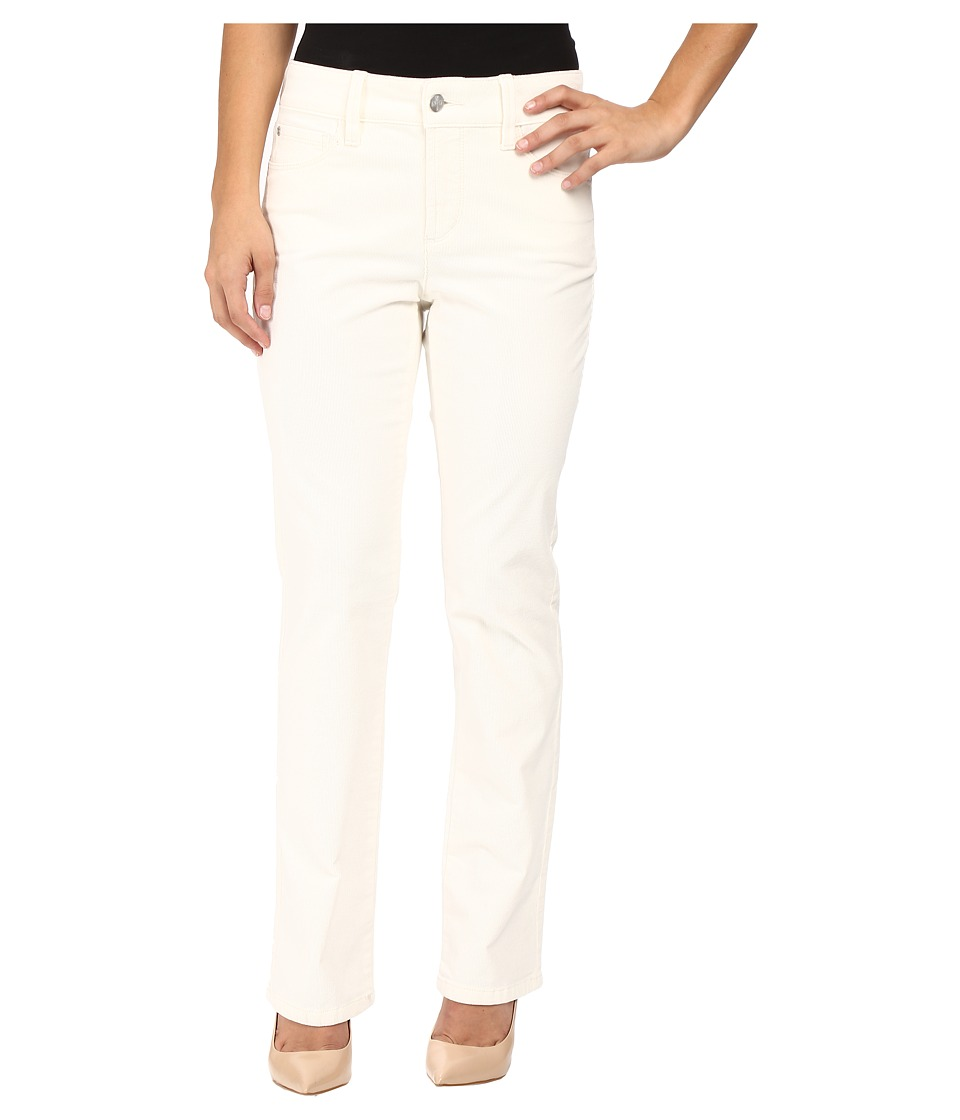 NYDJ Petite - Petite Marilyn Straight Jeans in Corduroy in Winter White (Winter White) Women's Jeans