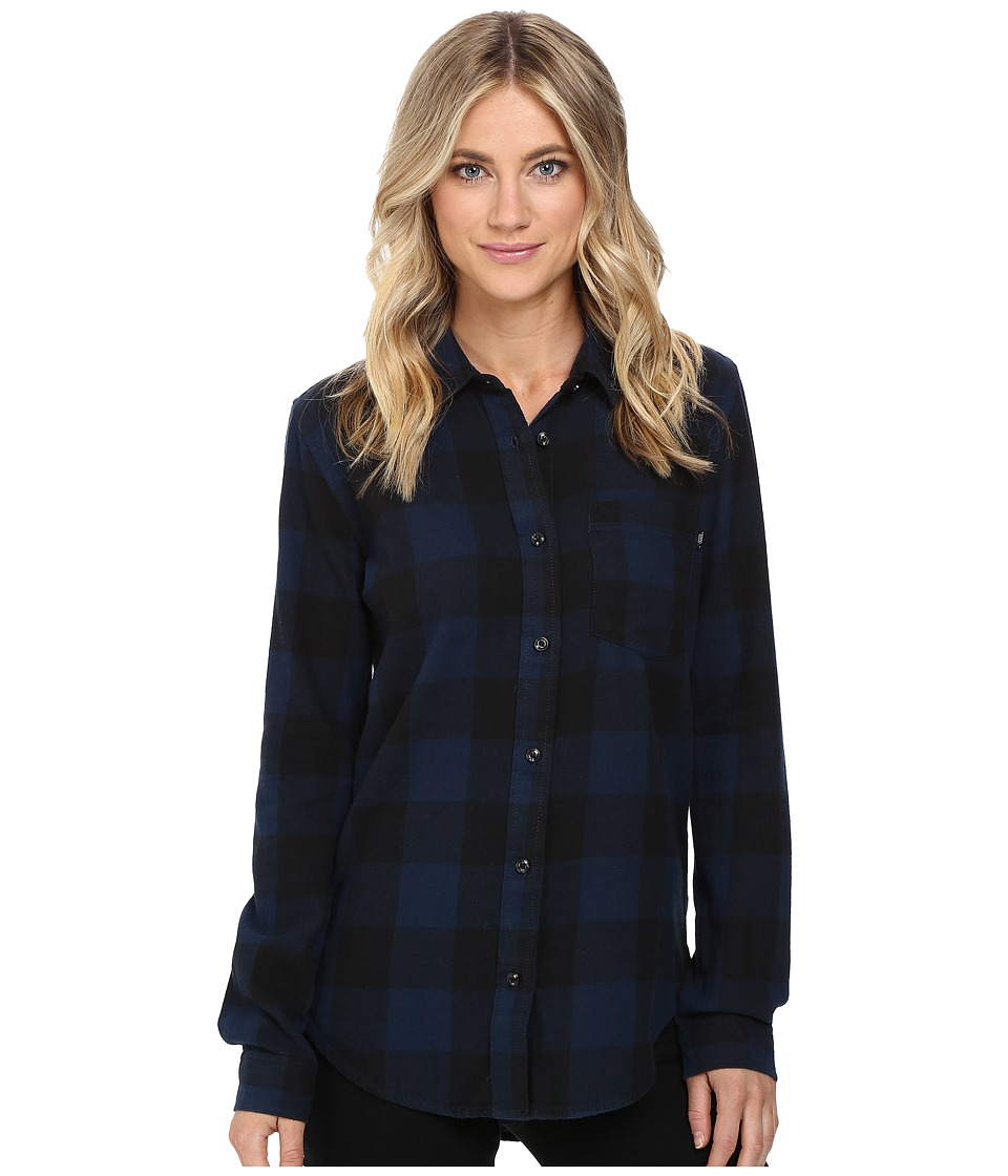 Vans - Moody Blues II Flannel (Dress Blues) Women's Clothing