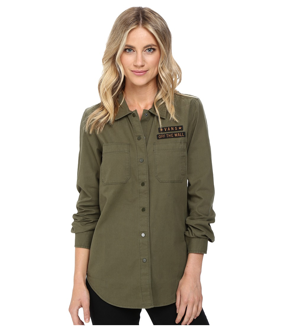 Vans - Drop in Dropout Woven (Ivy Green) Women's Clothing