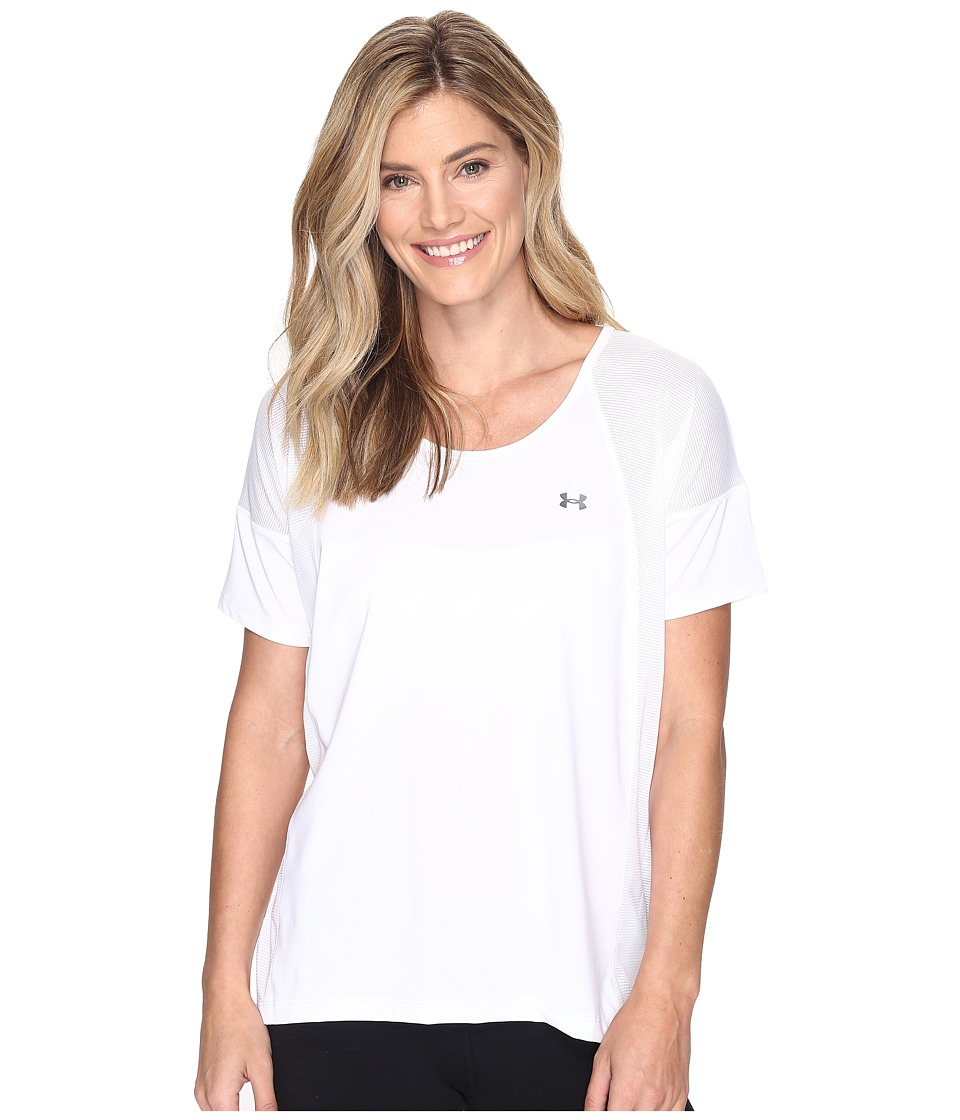 Under Armour - Armour Sport Short Sleeve (White/White) Women's Clothing