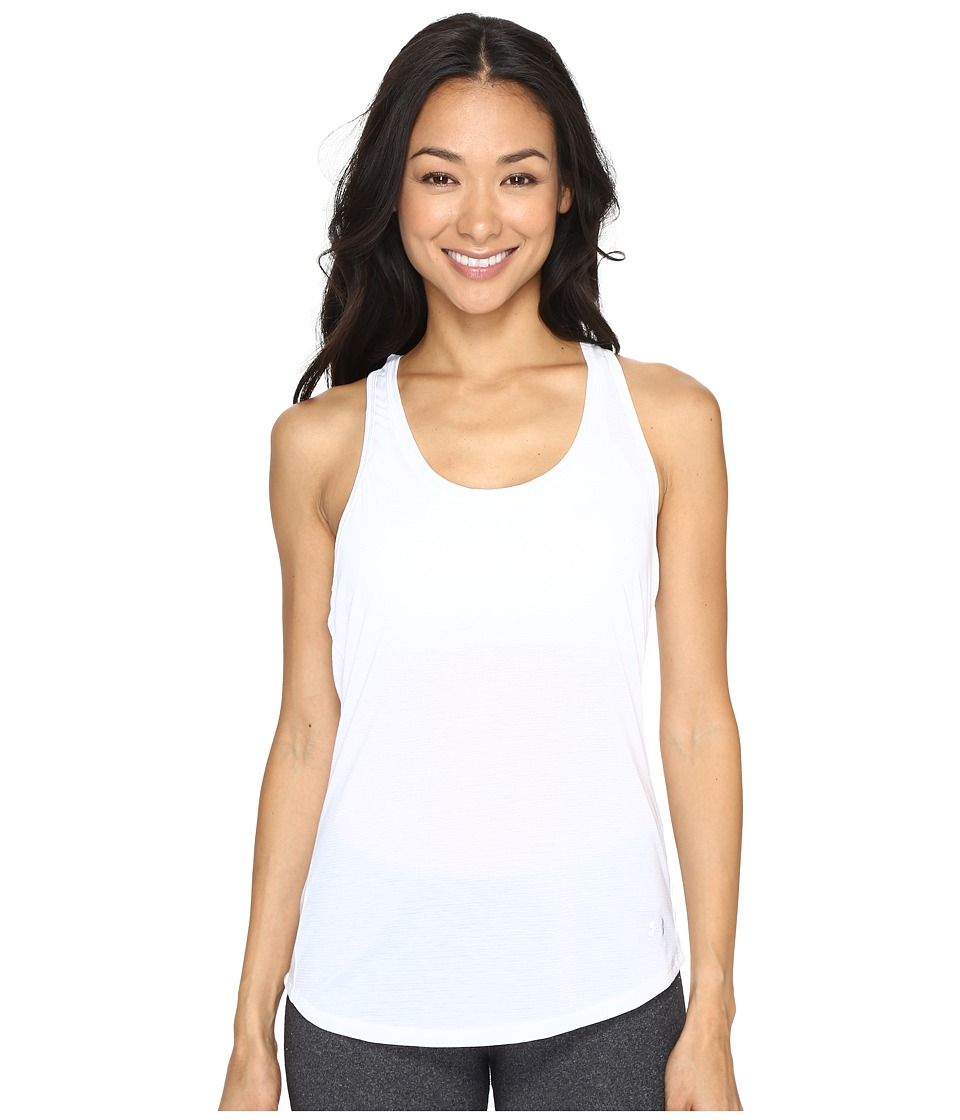 Under Armour - Streaker Tank Top (White/Black) Women's Sleeveless