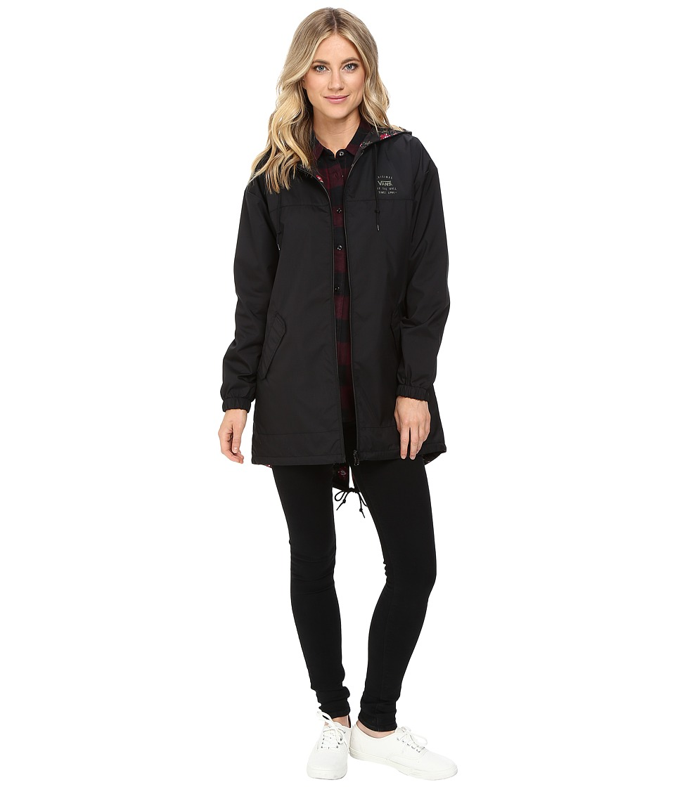 Vans - Mercy Reversible Parka (Black) Women's Coat