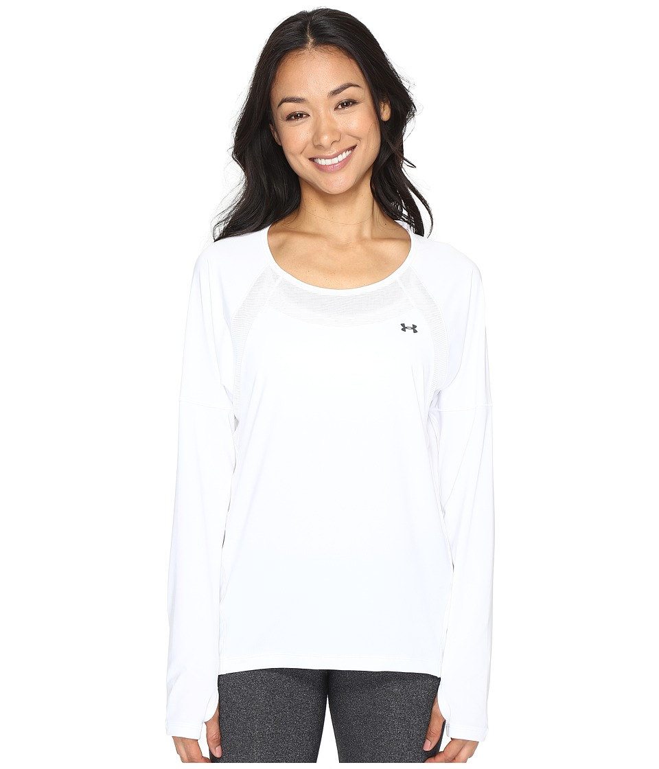 Under Armour - Armour Sport Long Sleeve (White/White) Women's Clothing
