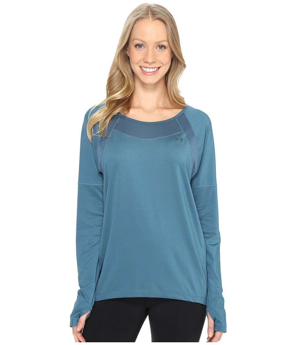Under Armour - Armour Sport Long Sleeve (Marlin Blue/Marlin Blue) Women's Clothing