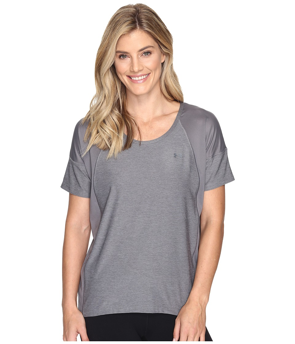 Under Armour - Armour Sport Short Sleeve - Twist (Graphite/Graphite) Women's Clothing