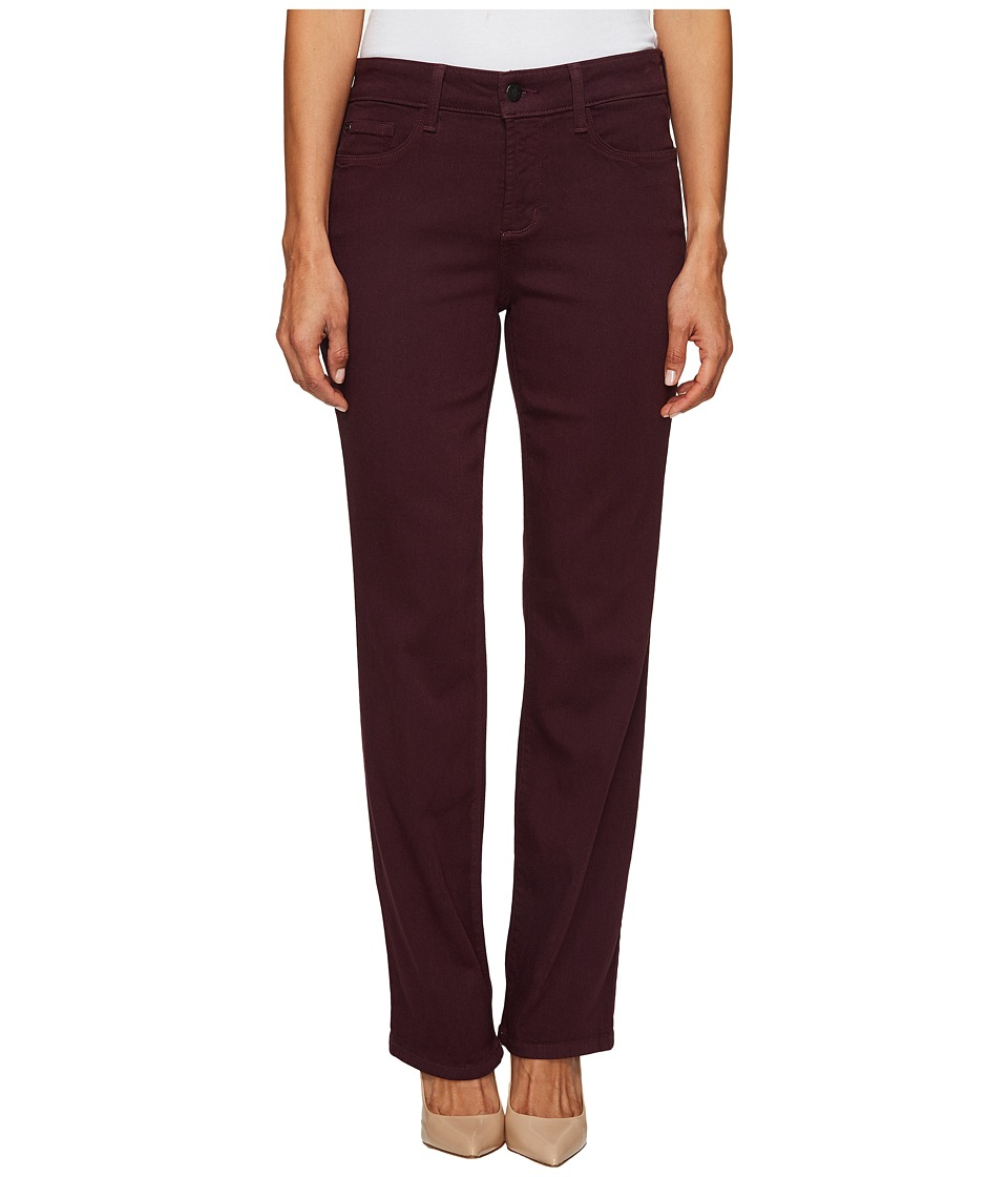NYDJ Petite Petite Marilyn Straight Jeans in Luxury Touch Denim in Zinfandel (Zinfandel) Women's Jeans