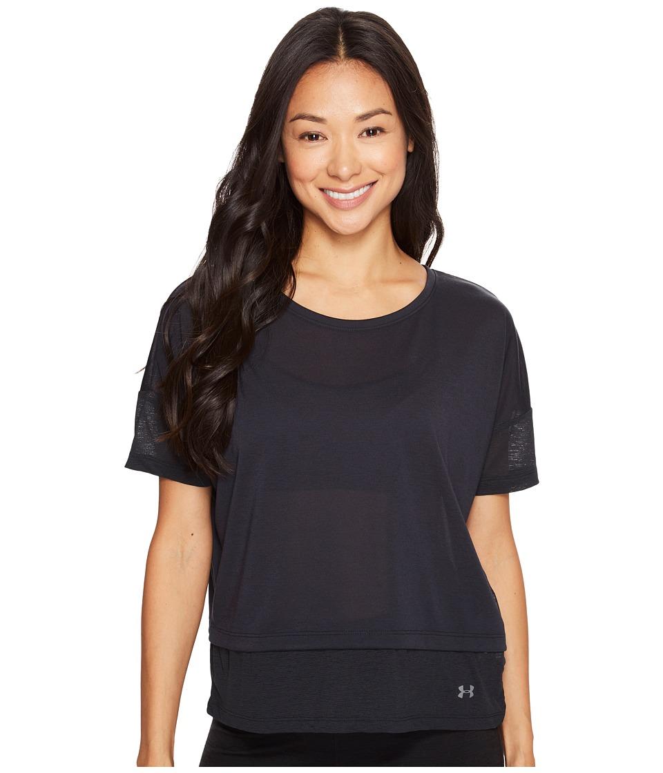 Under Armour - Tech Slub Layered Short Sleeve (Black) Women's Clothing