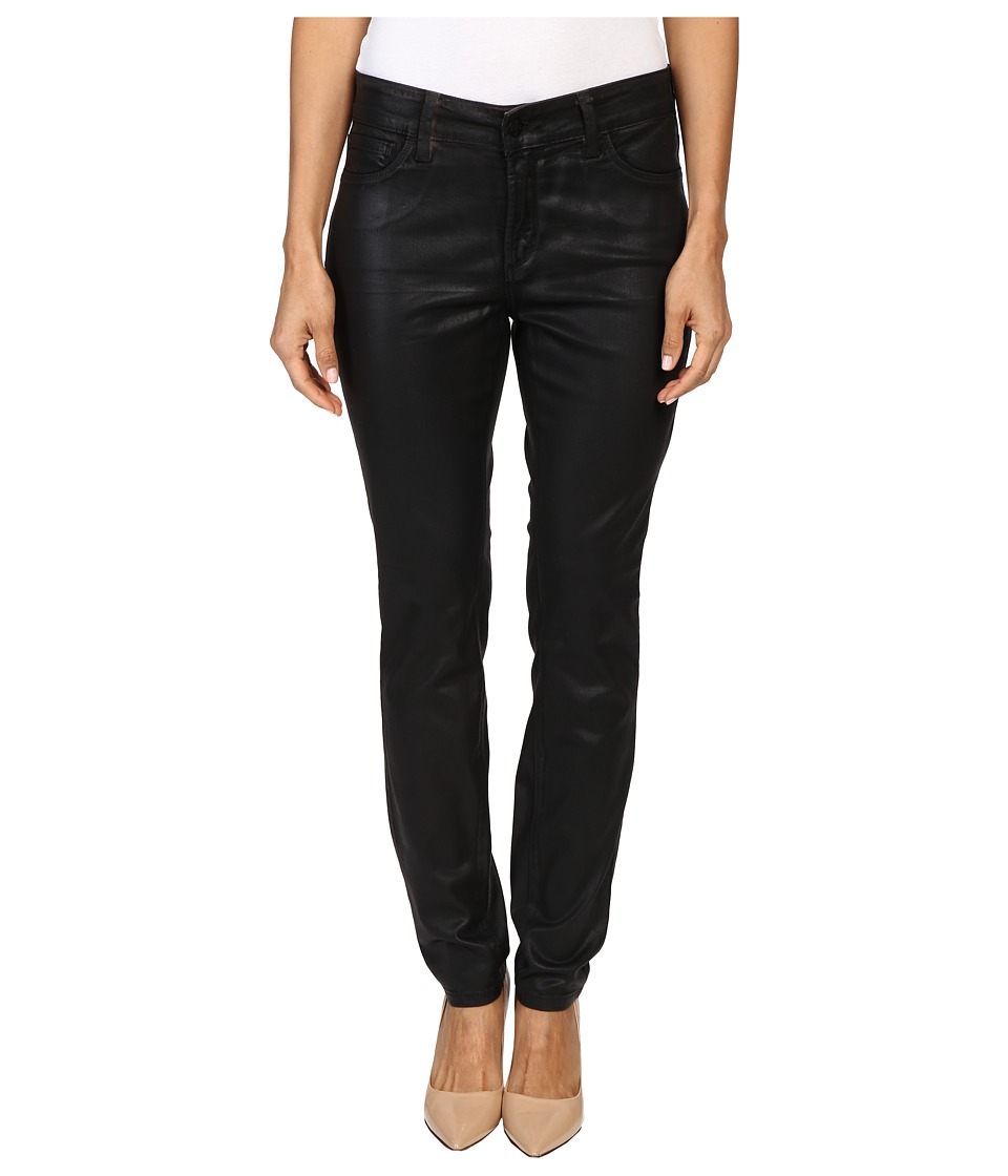 NYDJ Petite - Petite Alina Leggings Jeans in Faux Leather Coating in Black/Grey Leather Coating (Black/Grey Leather Coating) Women's Jeans