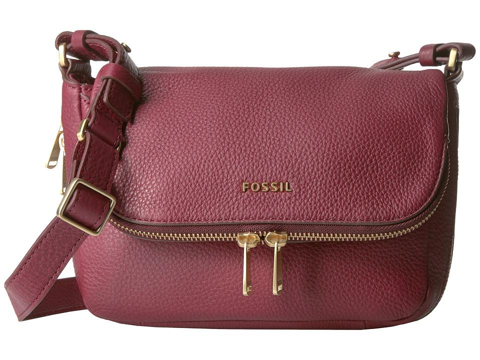 Fossil - Preston Small Flap (Wine) Cross Body Handbags