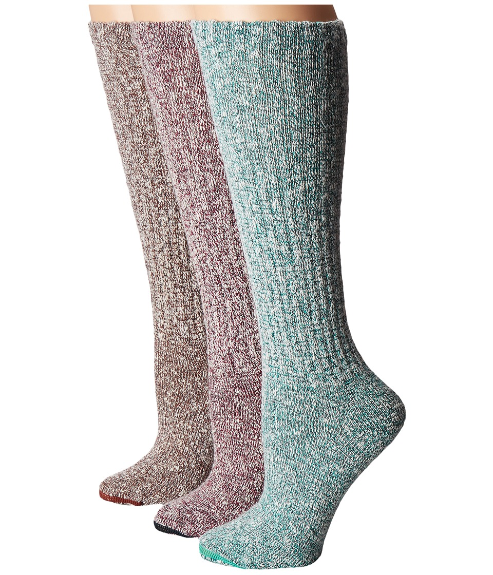 Merrell - Stowe Knee High Socks 3-Pair Pack (Multi) Women's Crew Cut Socks Shoes