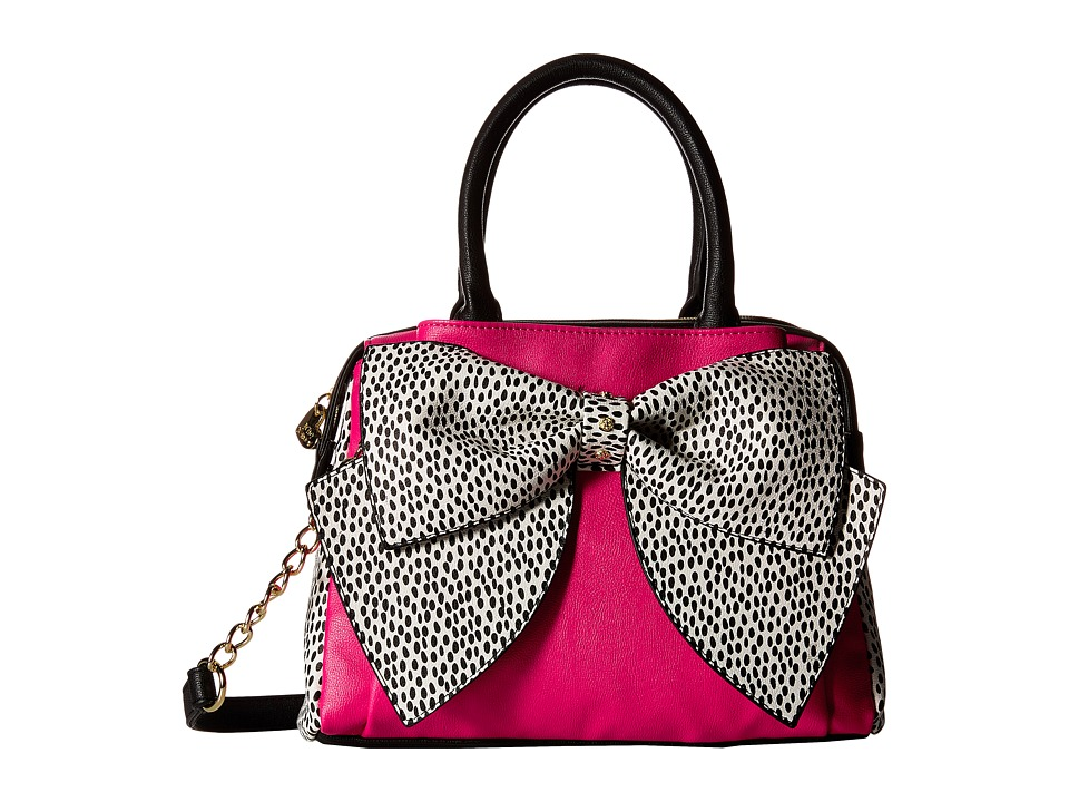 Betsey Johnson - Ready Set Bow Satchel (Fuchsia) Satchel Handbags