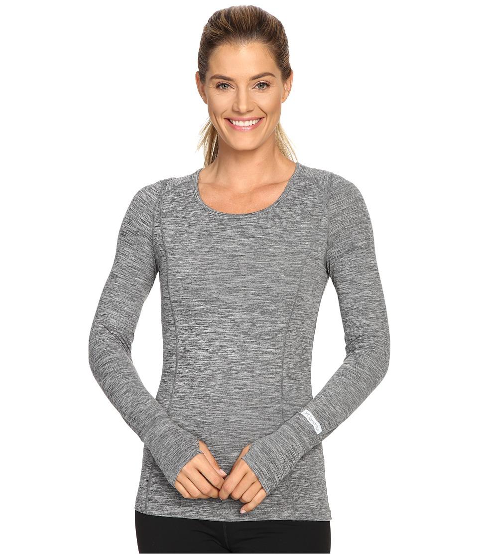 Terramar - Cloudnine Performance Long Sleeve Scoop W8214 (Grey Melange) Women's Long Sleeve Pullover