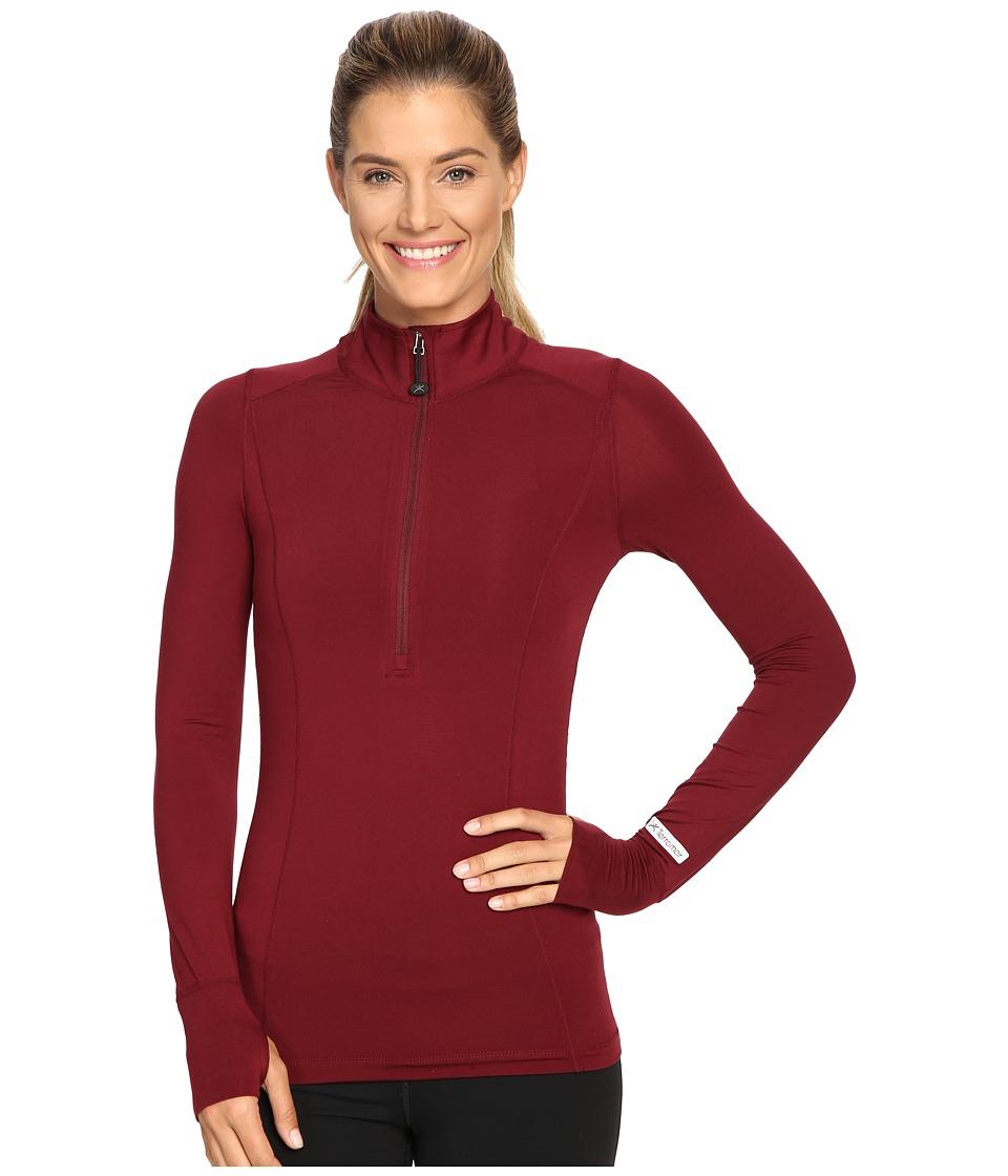 Terramar - Cloudnine Performance 1/2 Zip W8216 (Merlot) Women's Long Sleeve Pullover