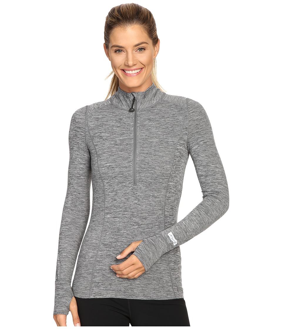 Terramar - Cloudnine Performance 1/2 Zip W8216 (Grey Melange) Women's Long Sleeve Pullover
