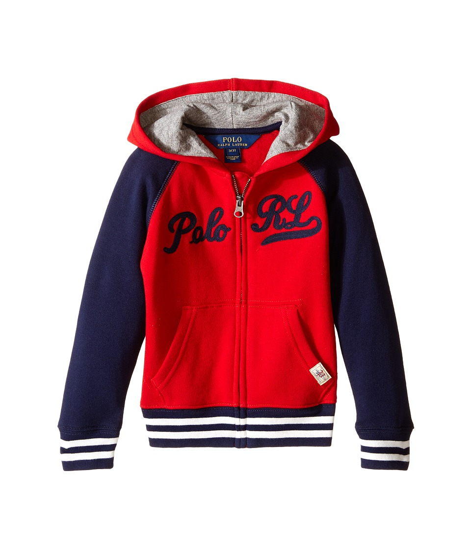 Polo Ralph Lauren Kids - Seasonal Fleece Full Zip Top (Toddler) (Camden Red) Boy's Fleece