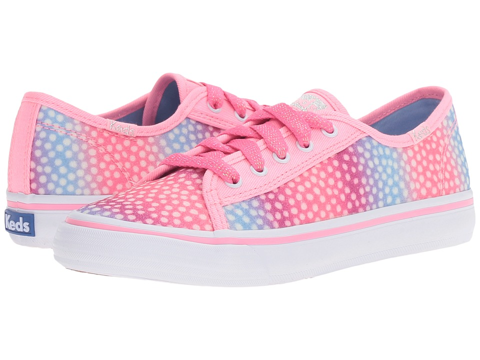 Keds Kids - Double Up (Little Kid/Big Kid) (Pink Multi Dot Sugar Dip) Girl's Shoes