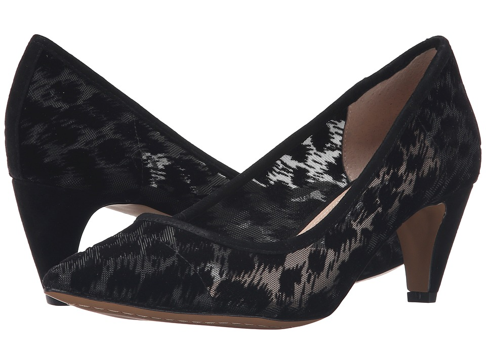 French Connection - Kornelia (Black/Black Rete Flock Leopard) Women's Shoes