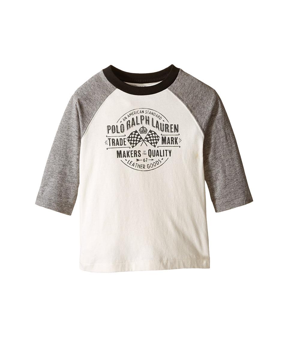 Polo Ralph Lauren Kids - Jersey Baseball Tee (Toddler) (Antique Cream) Boy's T Shirt