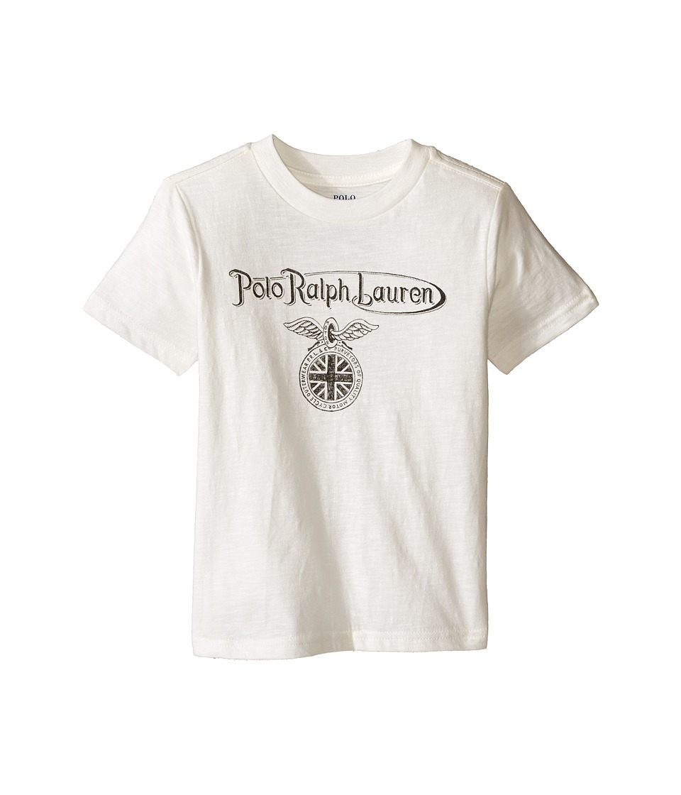 Polo Ralph Lauren Kids - 30s Short Sleeve Jersey Tee (Toddler) (Deckwash White) Boy's T Shirt