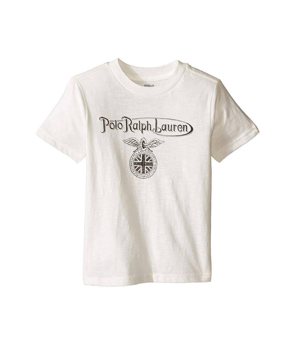 Polo Ralph Lauren Kids - 30s Short Sleeve Jersey Tee (Toddler) (Deckwash White) Boy's T Shirt