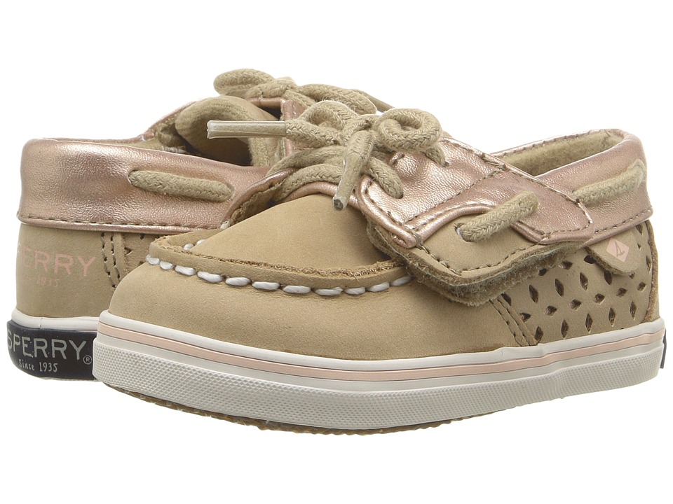 Sperry Kids - SP-Bluefish Crib Jr. (Infant/Toddler) (Silver Cloud/Rose Gold) Girl's Shoes