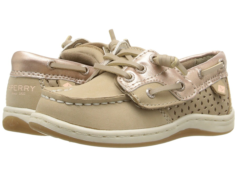 Sperry Kids - Songfish Jr. (Toddler/Little Kid) (Silver Cloud/Rose Gold) Girl's Shoes