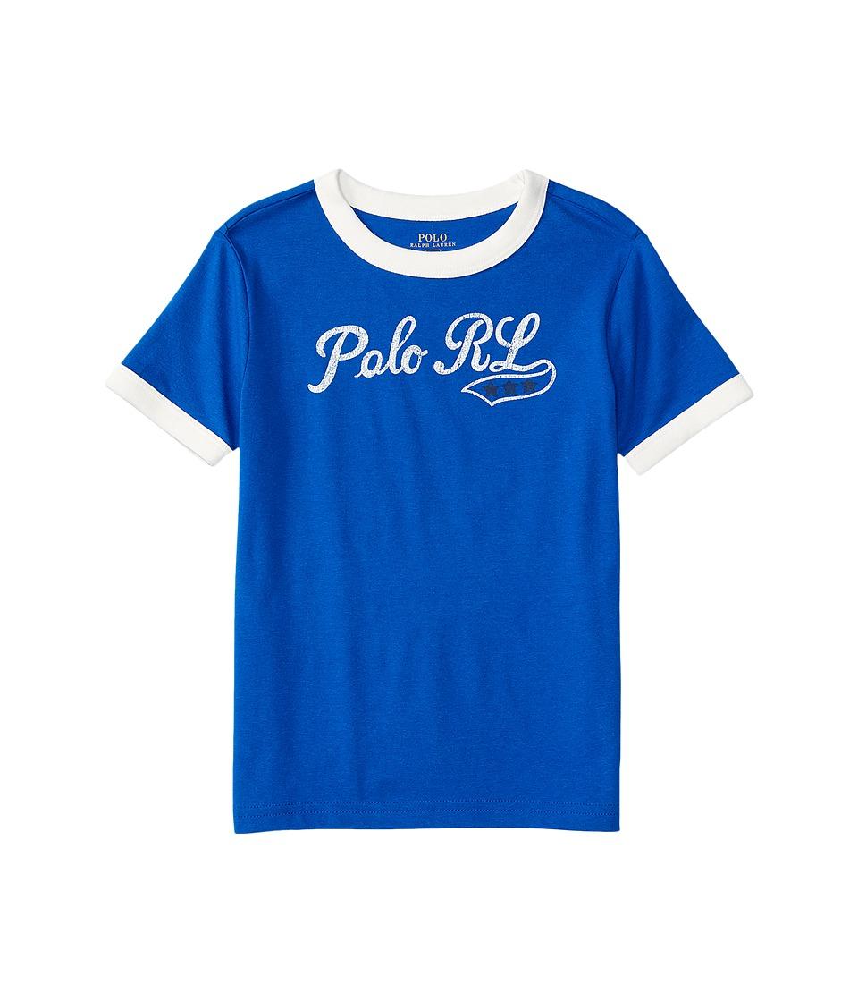 Polo Ralph Lauren Kids - 30/1 Jersey Ringer Tee (Toddler) (Sapphire Star) Boy's T Shirt