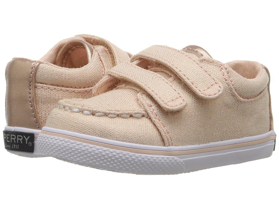 Sperry Kids - SP-Hallie Crib HL (Infant/Toddler) (Rose Gold) Girl's Shoes