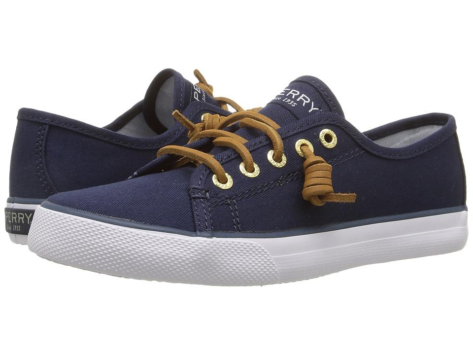 Sperry Kids - Seacoast (Little Kid/Big Kid) (Navy Canvas) Girls Shoes