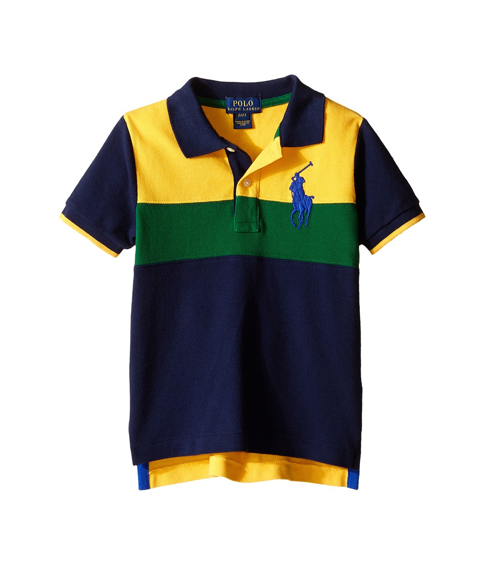 Polo Ralph Lauren Kids - Mesh Novel Polo Shirt (Toddler) (Gold Bugle Multi) Boy's Short Sleeve Knit